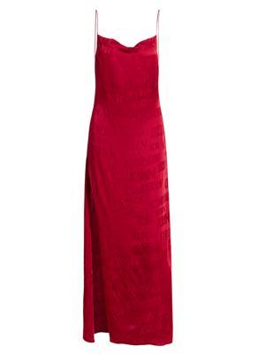 Typo Logo Fluid Slip Dress