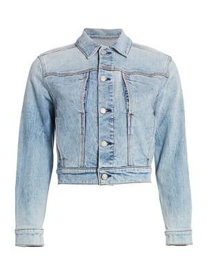 Triple Needle Slant Pocket Denim Jacket