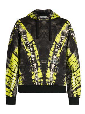 Pop Skin Print Felpa Jersey Hooded Sweatshirt