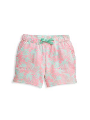 Little Girl's & Girl's Bougainvillea Print Shorts