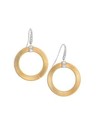 Masai 18K Yellow Gold & Diamond Coil Circle Hook Earrings