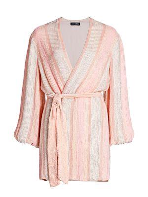 Gabrielle Sewn Sequin Wrap Dress