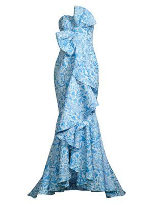 Azulejo Strapless Bow Gown