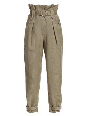 Mohon Belted Linen-Blend Pants