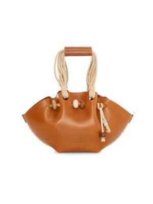 Mini Lynne Crafty Leather Top Handle Bag