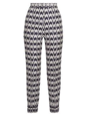 Chevron Silk Pants