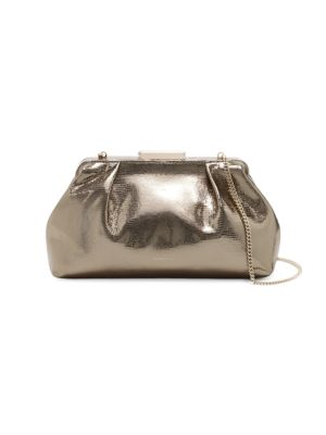 Mini Florence Metallic Leather Clutch