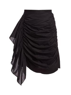 Hannah Draped Ruffle Mini Skirt