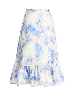 Dance Shakira Tie Dye A-Line Flounce Skirt