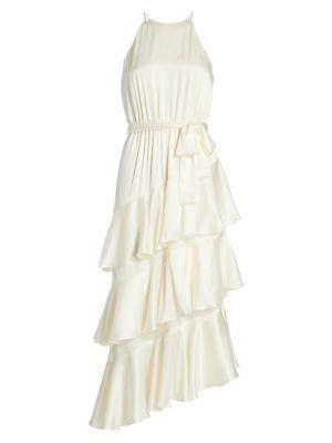 Picnic Tiered Silk Dress