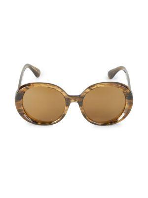 Leidy 56MM Round Sunglasses