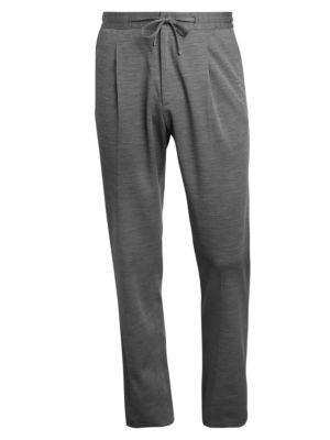 Wool Jersey Drawstring Trousers