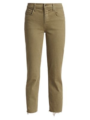 Sada High-Rise Slim-Fit Crop Jeans