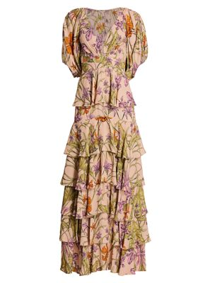Despise Your Thought Floral Tiered Maxi Dress