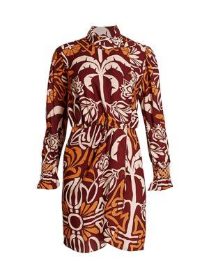 Colors & Possession Printed Wrap Dress