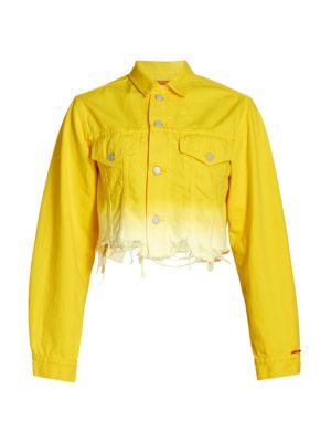 Agnes Oversized Dip-Dye Denim Trucker Jacket