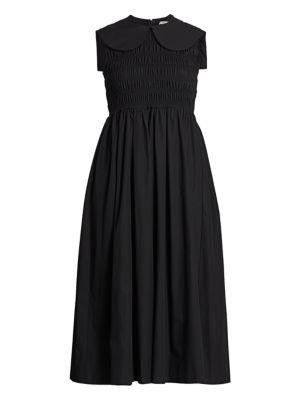 Bessie High-Neck Midi Dress