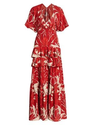 Chief Of All Muses Ruffled Maxi Dress