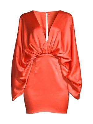 Karina Ruched Satin Dress