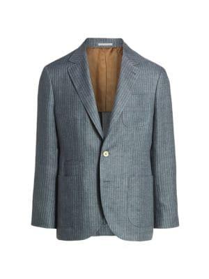 Striped Linen Sport Jacket