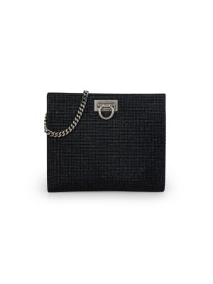 Small Strass Leather Wallet-On-Chain