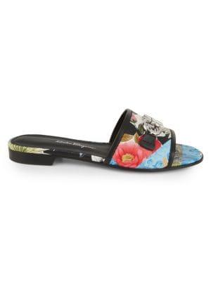 Silk Capsule Rhodes Floral Slide Sandals