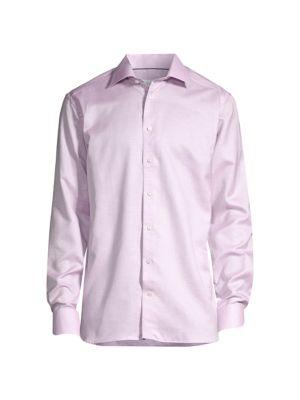 Slim-Fit Linen-Blend Sport Shirt