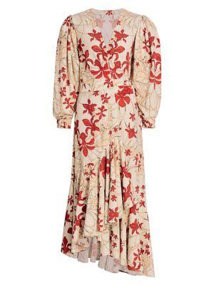 Peaceful Easy Feelings Wrap Midi Dress