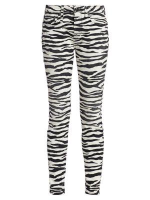 Alison Zebra-Print Skinny Jeans