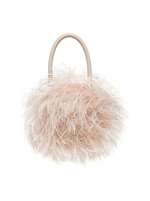 Zadie Feather Top Handle Bag