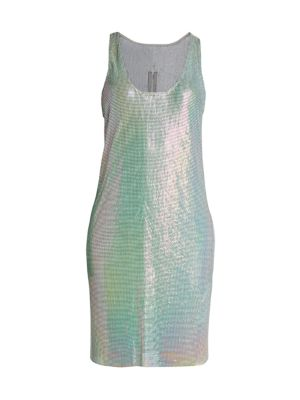 Iridescent Chainmail Tunic Dress