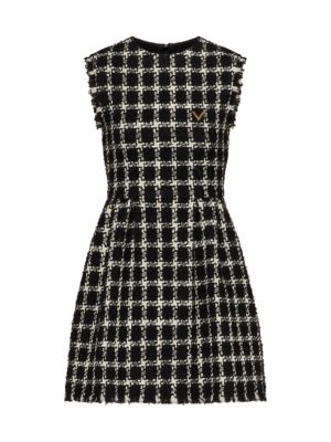 Wool-Blend Sleeveless Sheath Dress