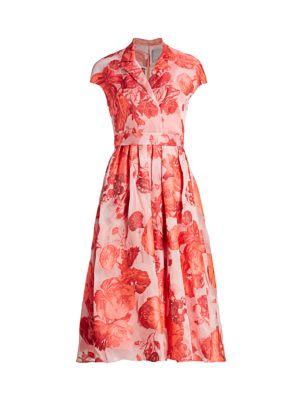 Rose Fil Coupé Midi Dress