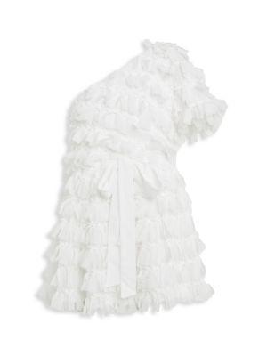 Girl's Gretta Ruffle One-Shoulder Dress