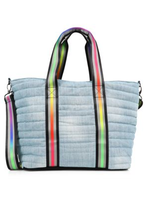 Pride Wingman Washed Denim Quilted Tote