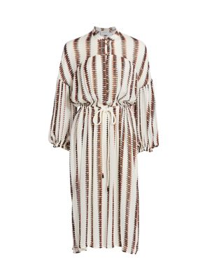 Eiden Stripe Midi Shirtdress