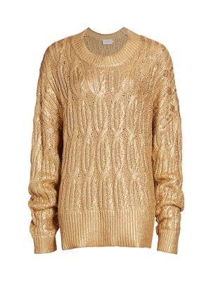 Enamel Metallic Sweater