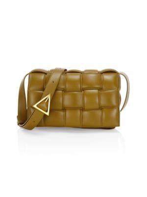 Small Cassette Padded Leather Crossbody Bag
