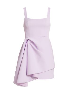 Clarke Scoopneck Knotted Drape Dress