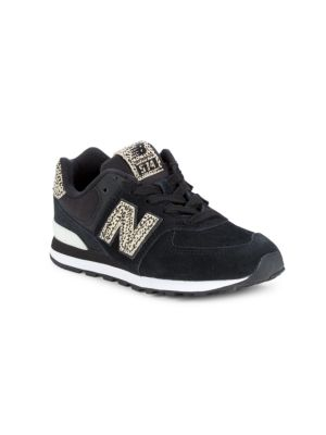 Kid's 574 Suede & Canvas Sneakers