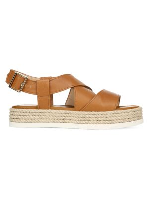 Grayce Rope & Leather Flatform Slingback Sandals
