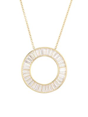 Tivoli Round Cubic Zirconia Pendant Halo Necklace