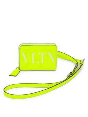 Valentino Garavani VLTN Fluorescent Neck Wallet