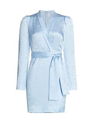 Mountain Stamped Satin Robe