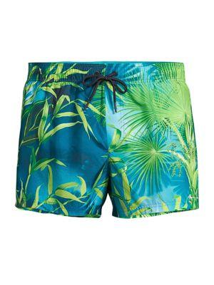 Jungle-Print Swim Shorts