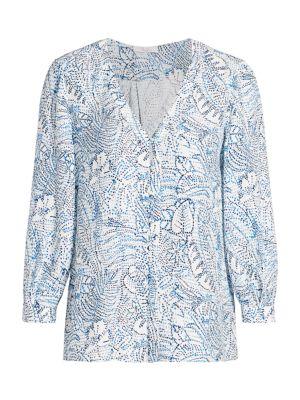 Beverly Printed Silk Blouse