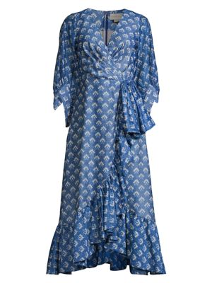 Rae Printed Wrap Dress