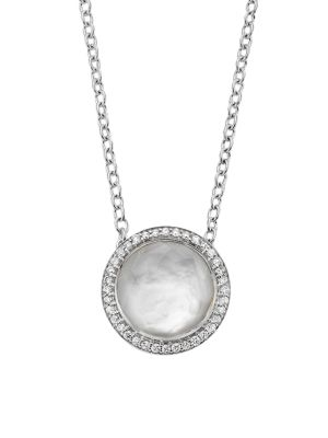 Lollipop® Carnevale Sterling Silver, Doublet & Diamond Pendant Necklace