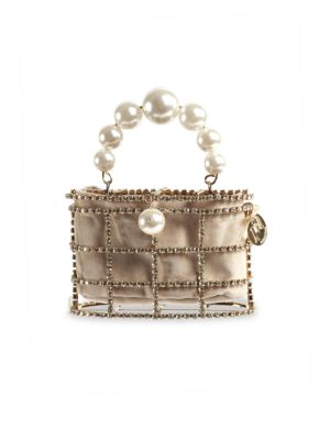 Mini Holli Embellished Top Handle Clutch