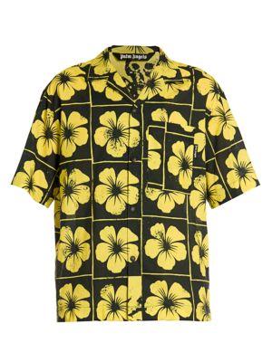 Damier Floral Bowling Shirt
